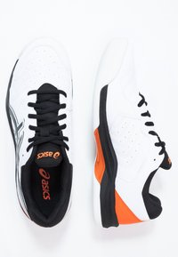 ASICS - GEL-DEDICATE 6 INDOOR - Carpet court tennis shoes - white/black - 1