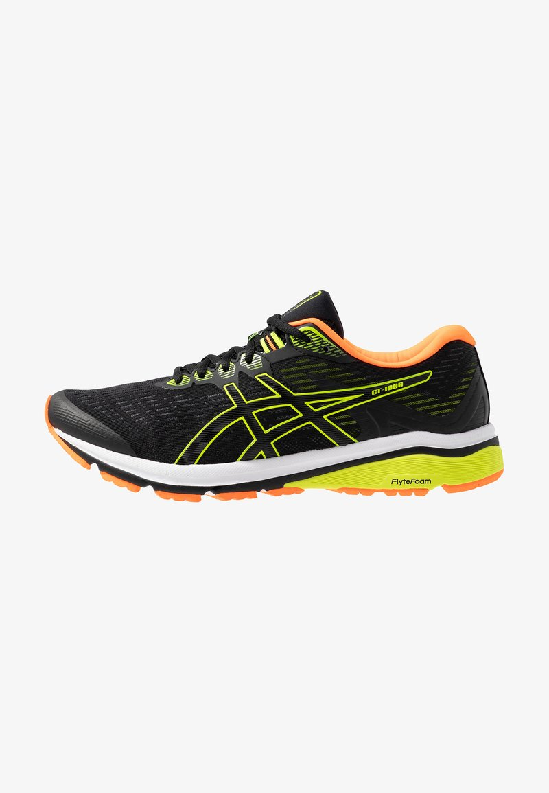ASICS - GT-1000 8 - Stabilty running shoes - black/safety yellow