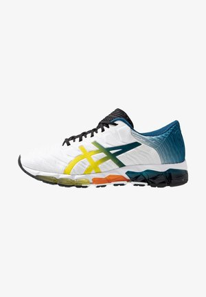 GEL-QUANTUM 360 5 - Chaussures de running neutres - white/sour yuzu