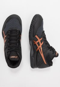 ASICS - GEL-TASK 2 MT - Handball shoes - black/pure bronze - 1