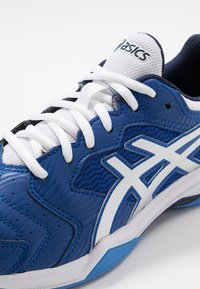 ASICS - GEL-DEDICATE 6 CLAY - Tenisové boty na antuku - blue/white - 5