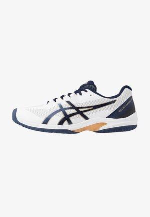 COURT SPEED FF - Tenisové boty na všechny povrchy - white/peacoat