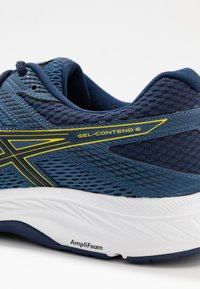 ASICS - GEL-CONTEND 6 - Obuwie do biegania treningowe - grand shark/vibrant yellow - 5