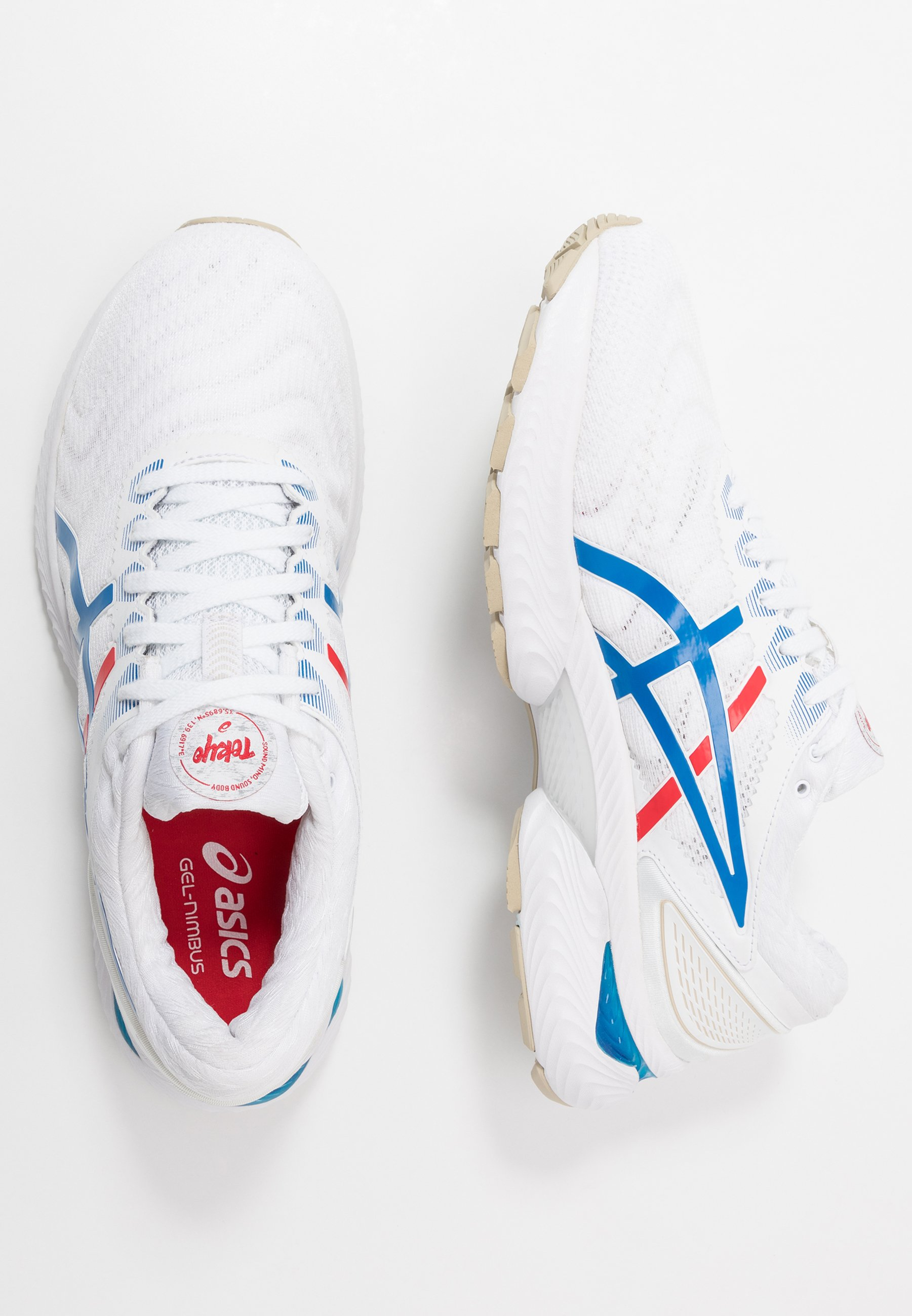 GEL-NIMBUS 22 RETRO TOKYO - Hardloopschoenen neutraal - white/electric blue