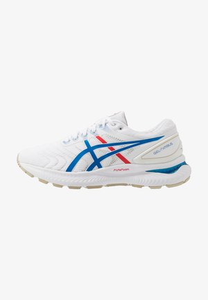 GEL-NIMBUS 22 RETRO TOKYO - Neutral running shoes - white/electric blue