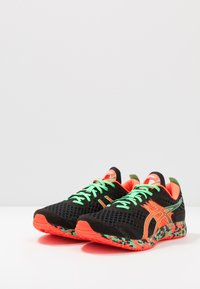 ASICS - GEL-NOOSA TRI 12 - Competition running shoes - black/flash coral - 2