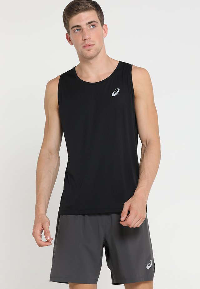 SINGLET - Sports shirt - performance black