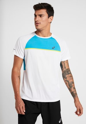 T-shirt print - brilliant white/island blue