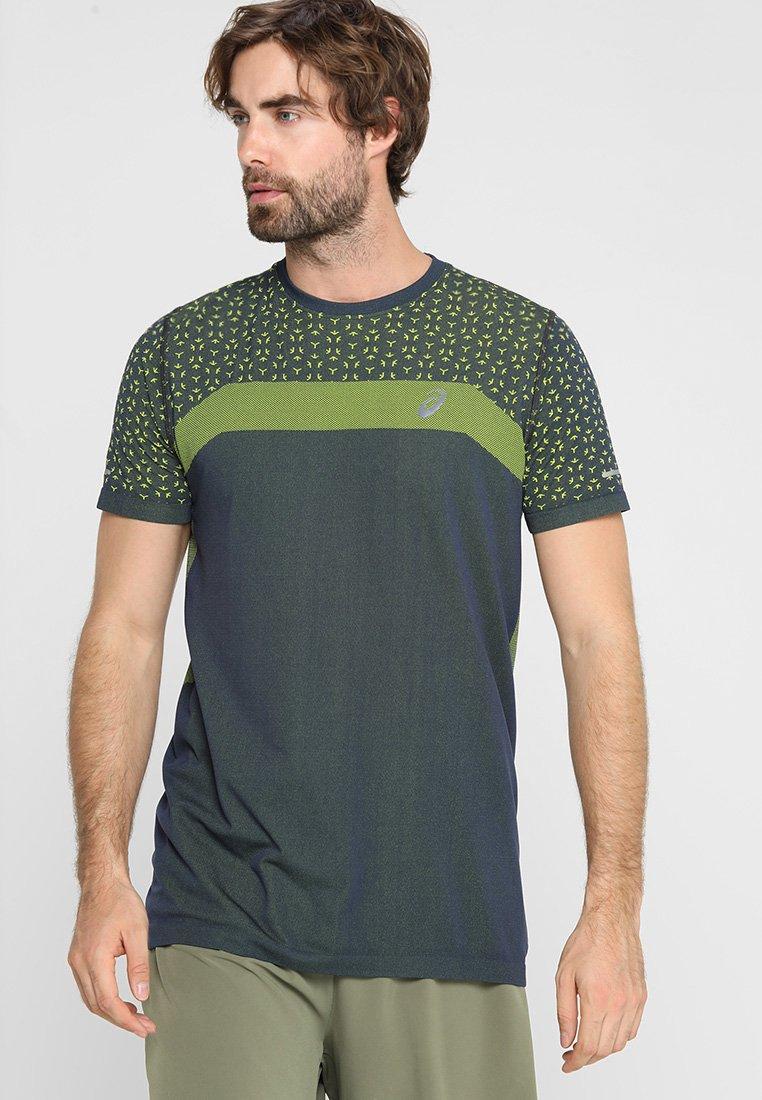 ASICS - SEAMLESS TEXTURE - T-shirt con stampa - tarmac