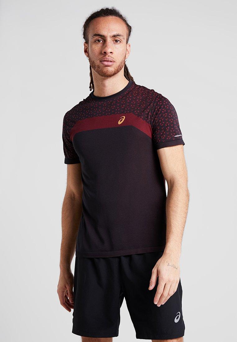 ASICS - SEAMLESS TEXTURE - T-shirt con stampa - performance black