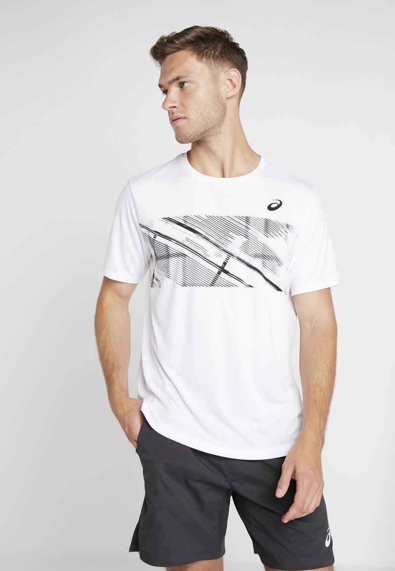 ASICS - PRACTICE - Camiseta estampada - brilliant white