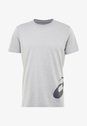 LOW BIG LOGO TEE - Triko s potiskem - mid grey heather/dark grey