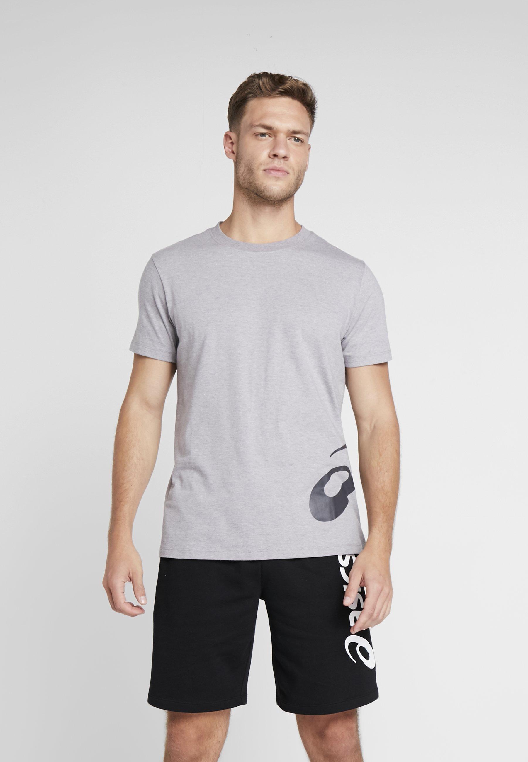 TeeT dark Heather Grey Big Logo Asics shirt Imprimé Low Mid qzSMVUp