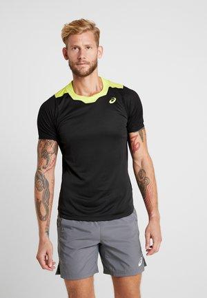 GEL COOL  - T-shirt med print - performance black/sour yuzu