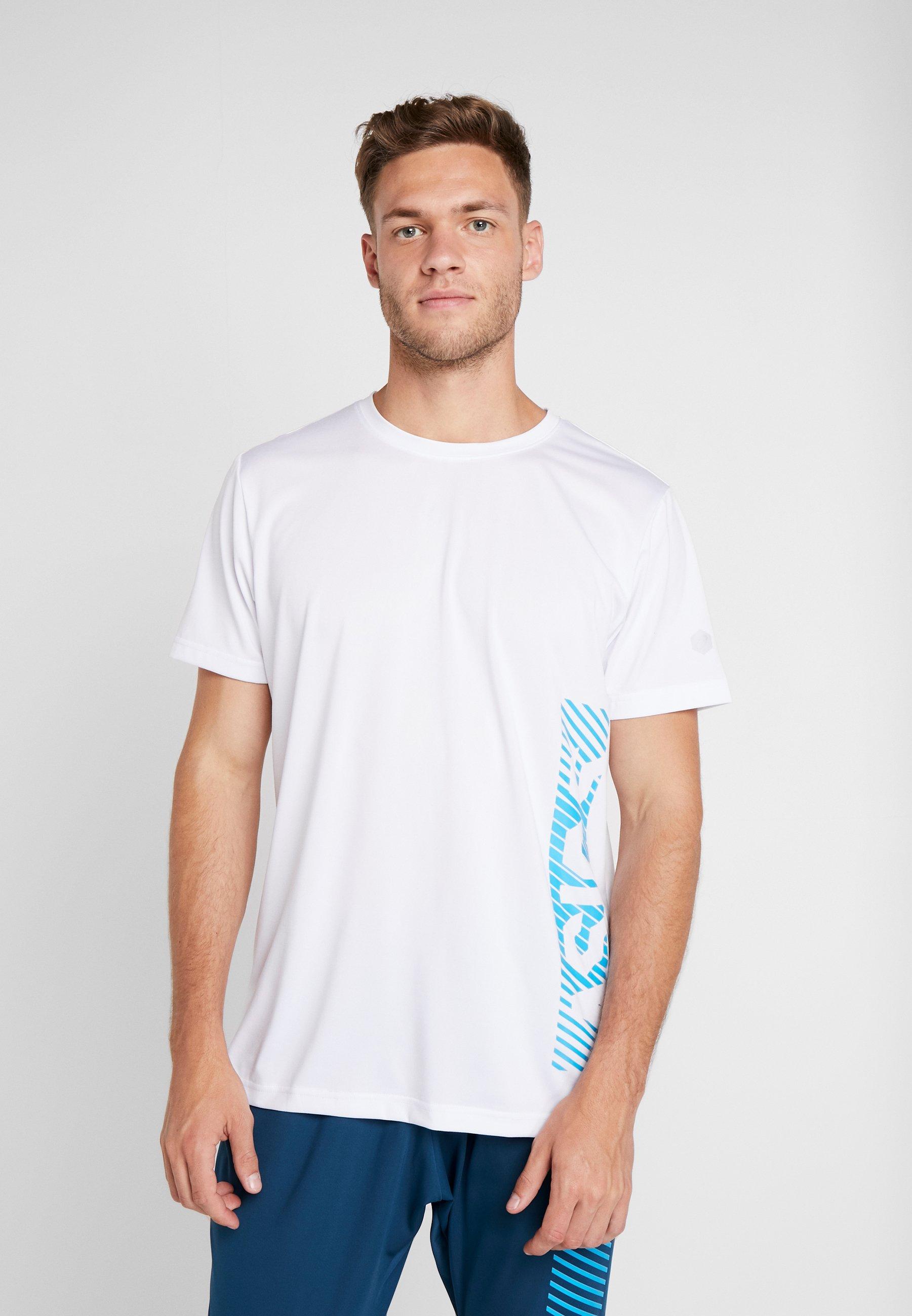 island Asics T shirt Blue ImpriméBrilliant White sQdBtCrxh