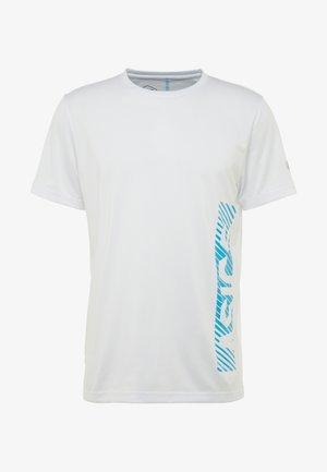 T-shirt con stampa - brilliant white/island blue