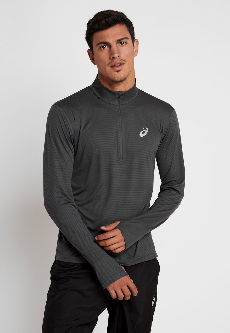 ASICS - ZIP - Long sleeved top - dark grey