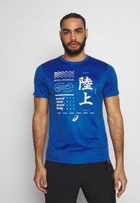 ASICS - KANJI - Print T-shirt - blue - 0