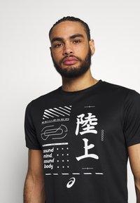 ASICS - KANJI - Print T-shirt - black - 3