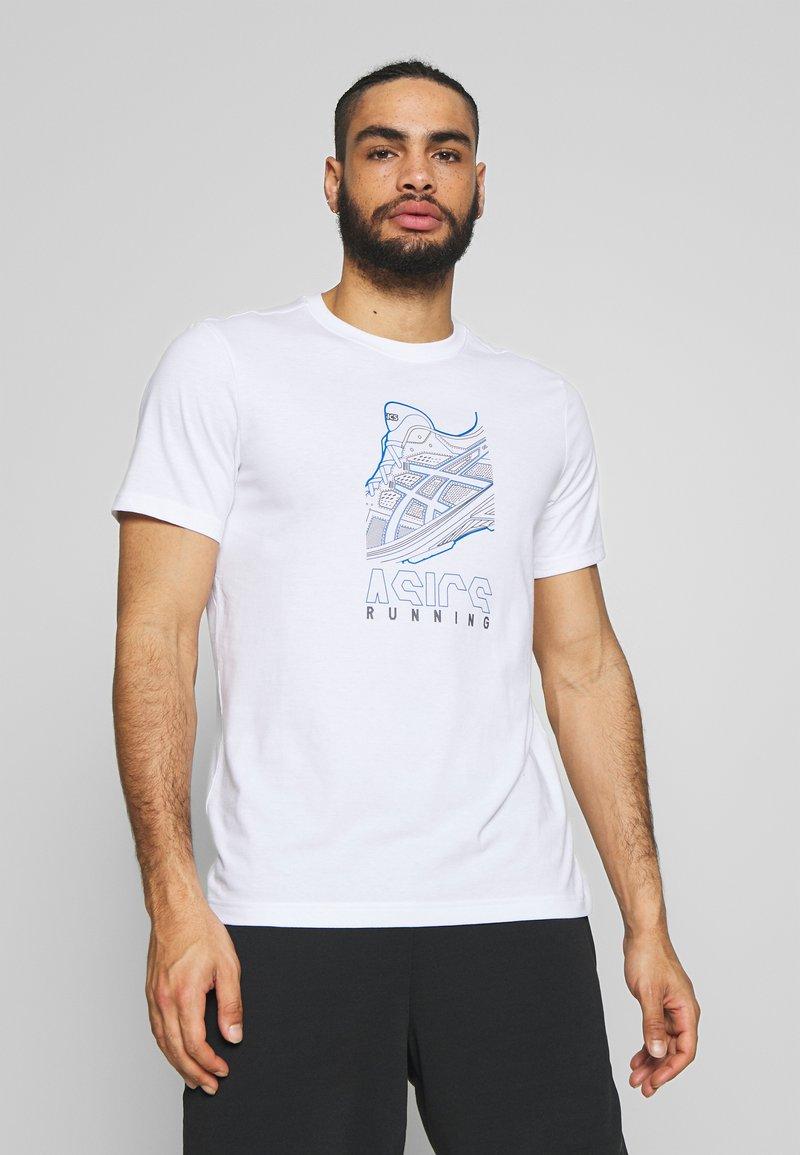 ASICS - RUNNING GRAPHIC TEE - Print T-shirt - brilliant white
