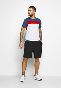 ASICS - RACE - Print T-shirt - brilliant white/grand shark - 1