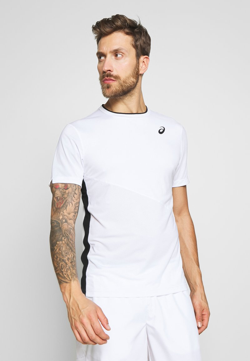 ASICS - CLUB TEE - Triko s potiskem - brilliant white