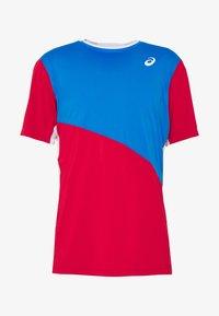 ASICS - CLUB TEE - Print T-shirt - electric blue/classic red - 3
