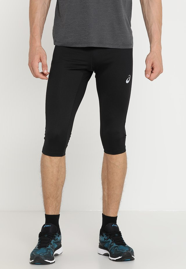 SILVER KNEE TIGHT - 3/4 sports trousers - performance black