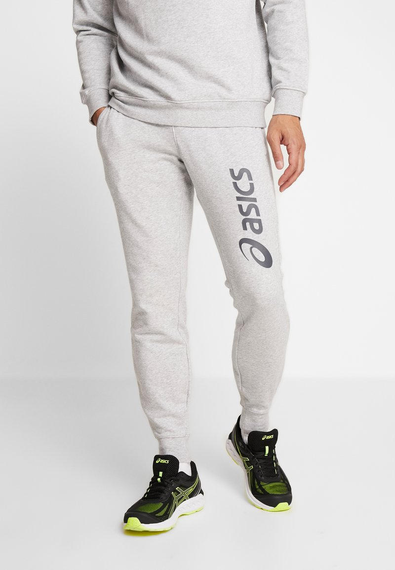 ASICS - BIG LOGO PANT - Tracksuit bottoms - mid grey heather/dark grey