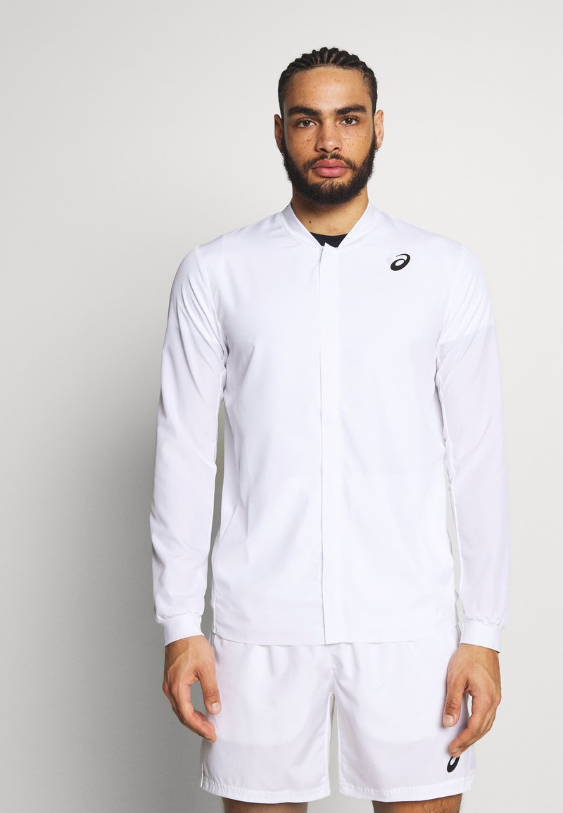 ASICS - CLUB JACKET - Sportovní bunda - brilliant white