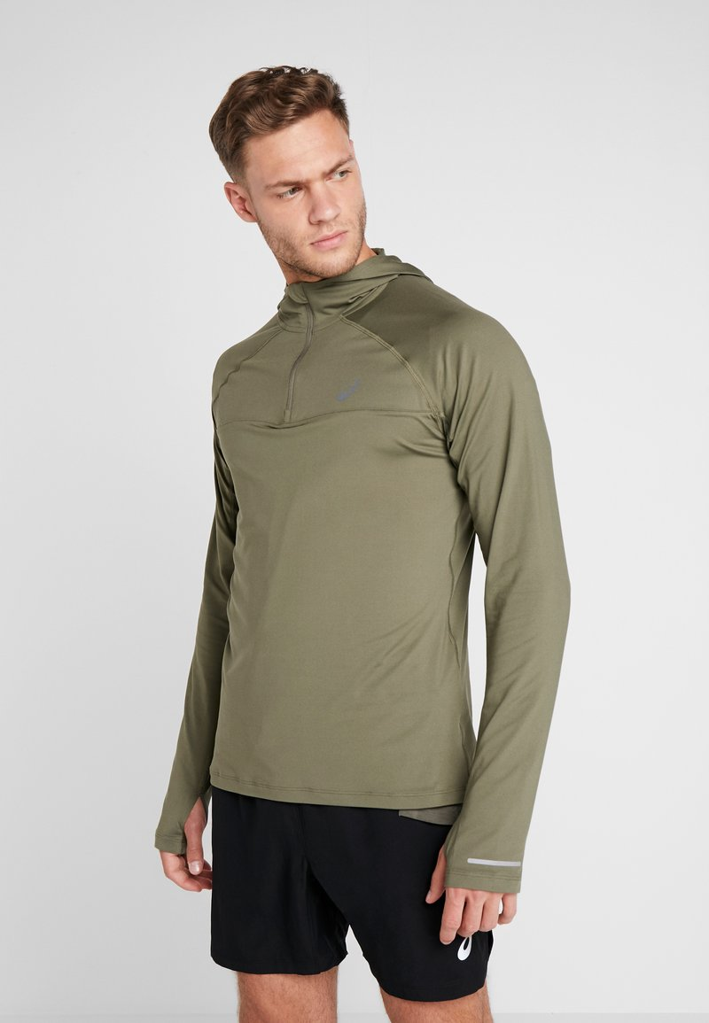 ASICS - THERMOPOLIS PLUS HOODIE - Funktionsshirt - mantle green