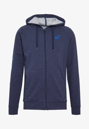 BIG  HOODIE - Mikina na zip - peacoat heather/blue