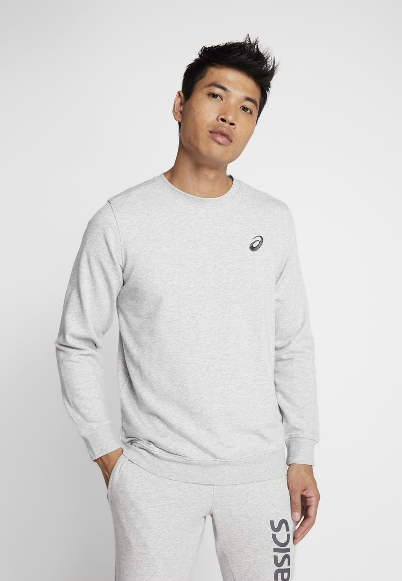 ASICS - CHEST LOGO CREW - Sweatshirt - mid grey heather