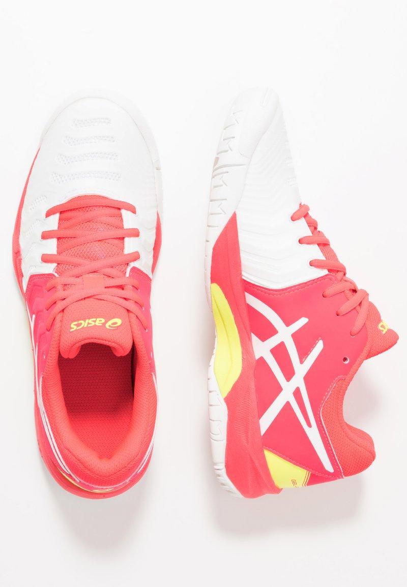 ASICS - GEL-RESOLUTION 7 - Tenisové boty na všechny povrchy - white/laser pink