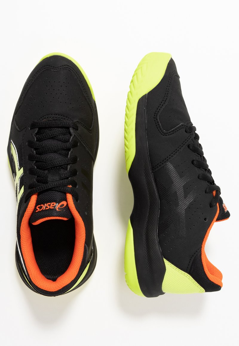 ASICS - GEL-GAME - Tennisschoenen voor kleibanen - black/sour yuzu