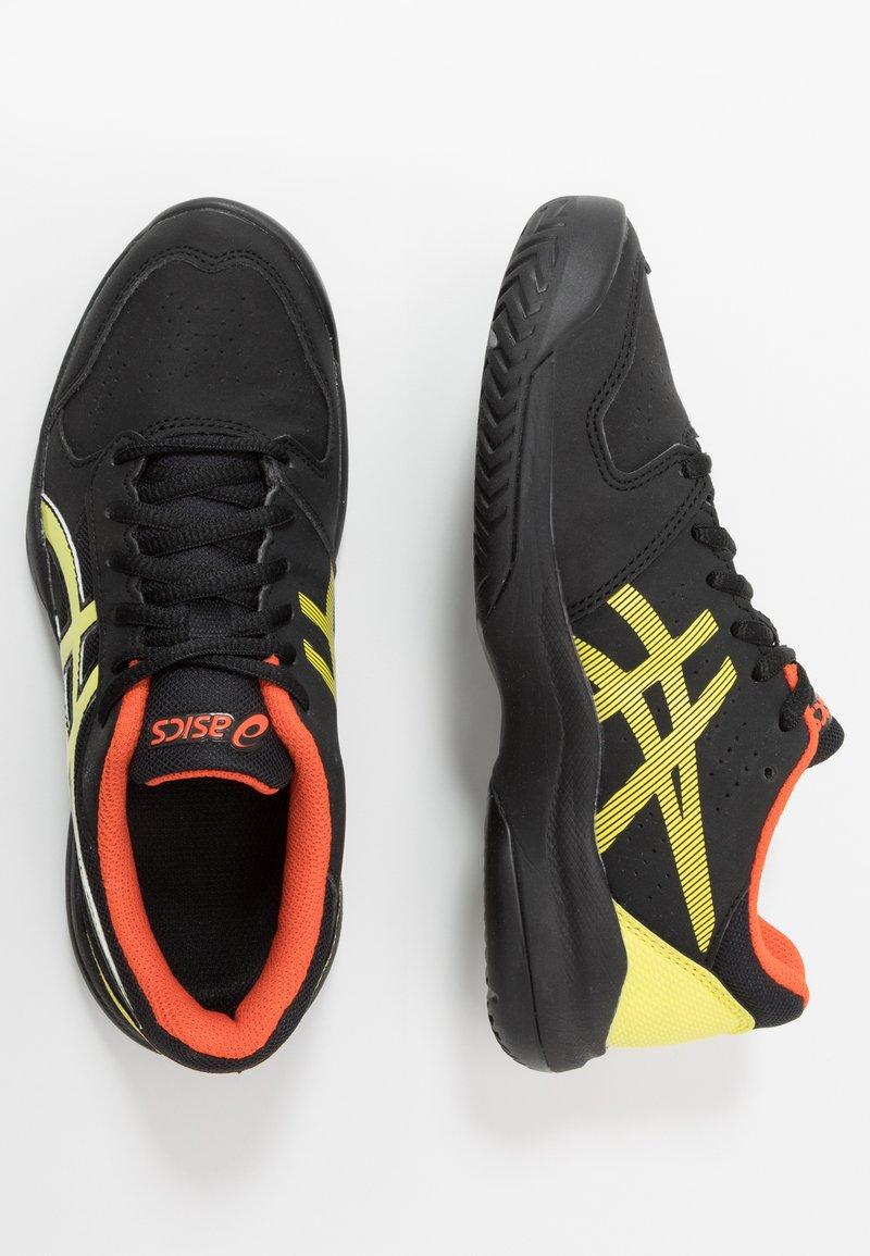 ASICS - GEL-GAME - Tenisové boty na antuku - black/sour yuzu