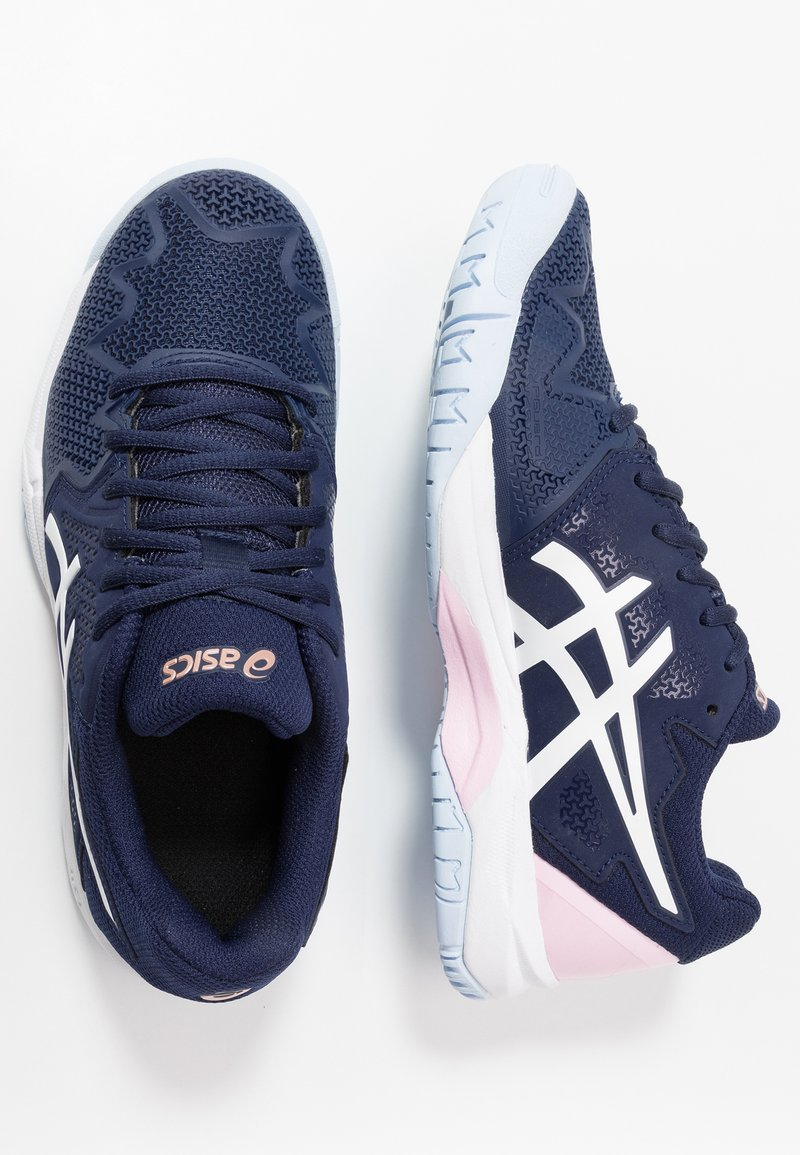 ASICS - GEL-RESOLUTION 8 - Multicourt tennis shoes - peacoat/candy