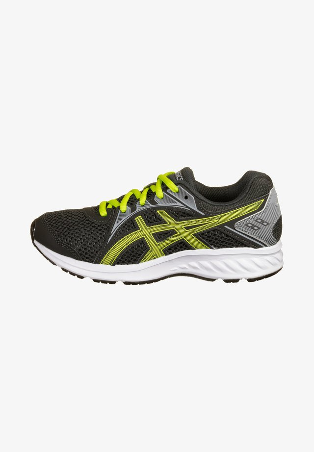 JOLT - Neutral running shoes - graphite grey / lime zest