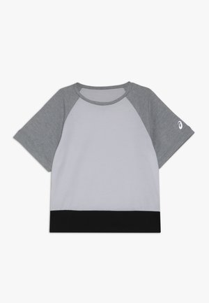 COLOR BLOCK - T-shirt print - brilliant white/mid grey heather