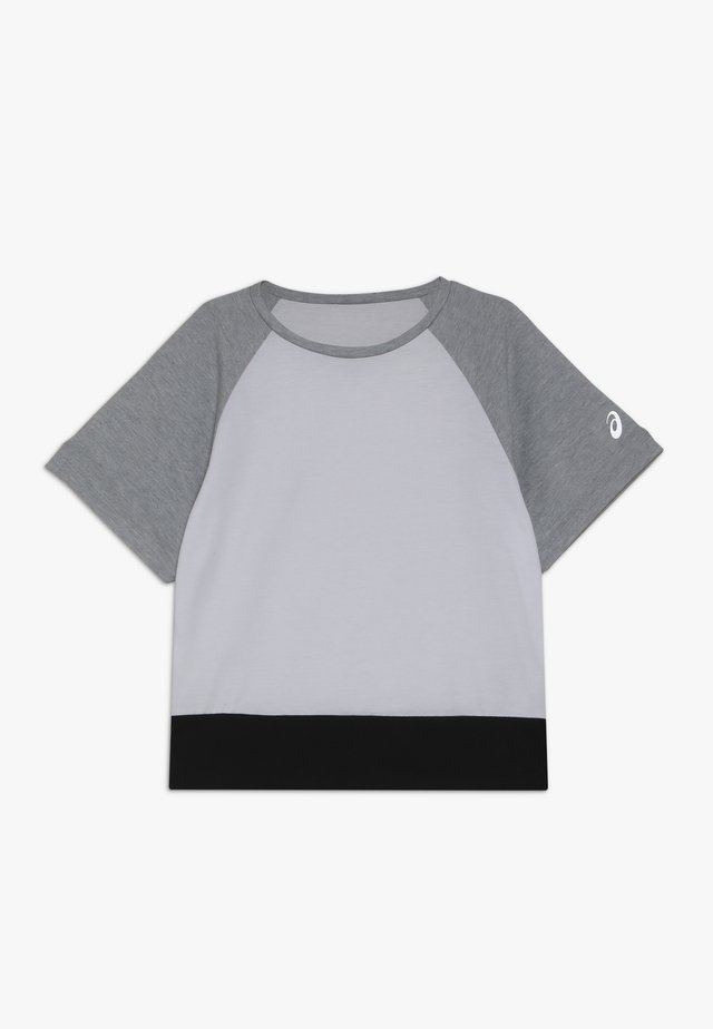 COLOR BLOCK - Camiseta estampada - brilliant white/mid grey heather