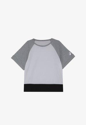 COLOR BLOCK - Triko spotiskem - brilliant white/mid grey heather