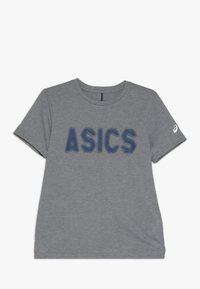 ASICS - T-shirt con stampa - mid grey heather - 0