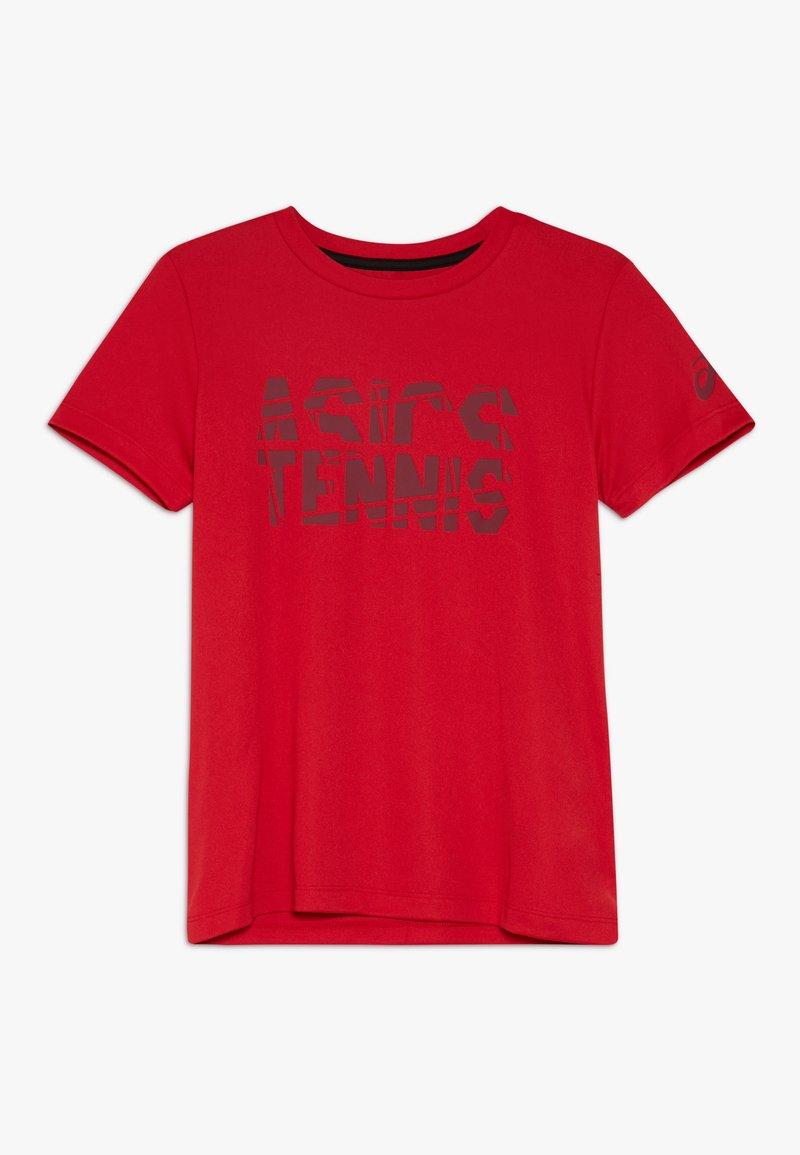ASICS - TENNIS - T-shirt con stampa - speed red