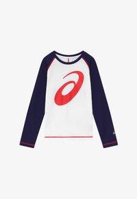 ASICS - BIG SPIRAL  - Sports shirt - brilliant white/peacoat - 2