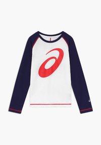 ASICS - BIG SPIRAL  - Sports shirt - brilliant white/peacoat - 0