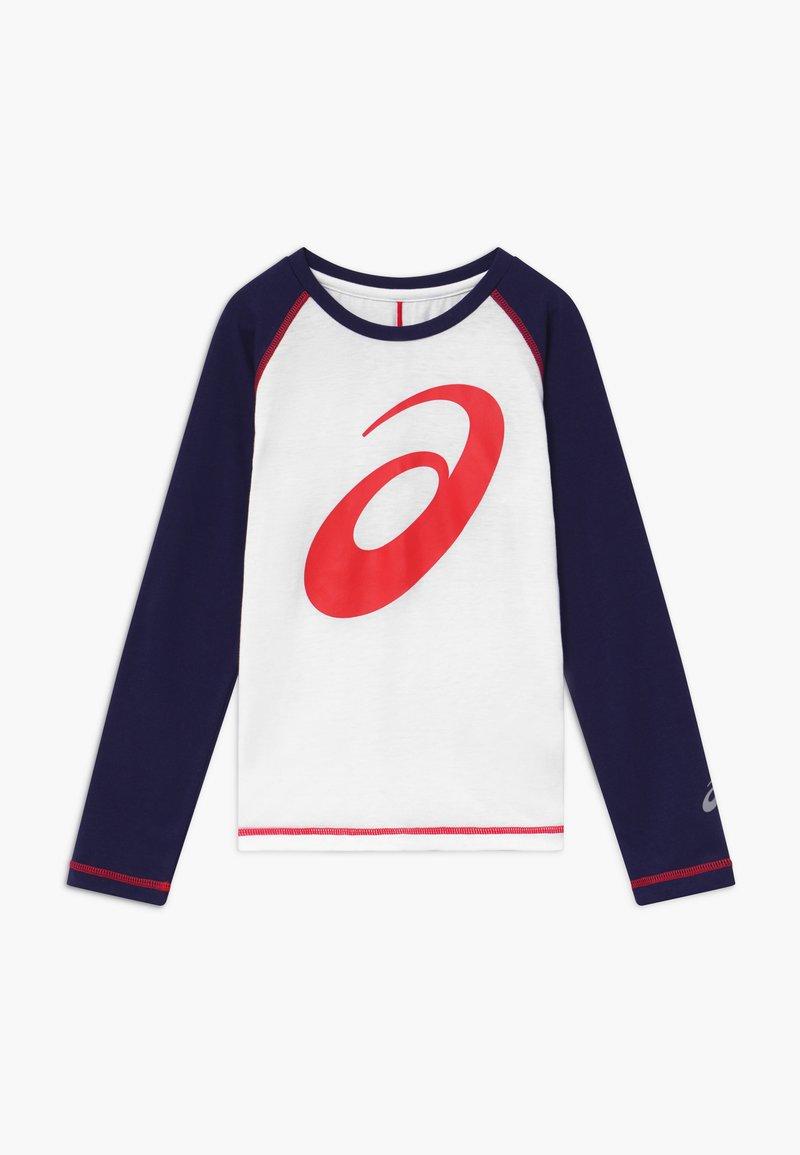 ASICS - BIG SPIRAL  - Sports shirt - brilliant white/peacoat