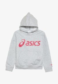 ASICS - BIG HOODIE - Jersey con capucha - mid grey heather/laser pink - 3