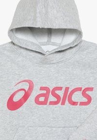 ASICS - BIG HOODIE - Sweat à capuche - mid grey heather/laser pink