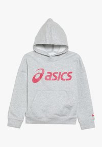 ASICS - BIG HOODIE - Jersey con capucha - mid grey heather/laser pink - 0