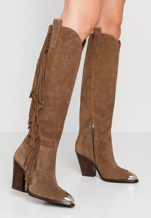 ELODIE - High heeled boots - russet